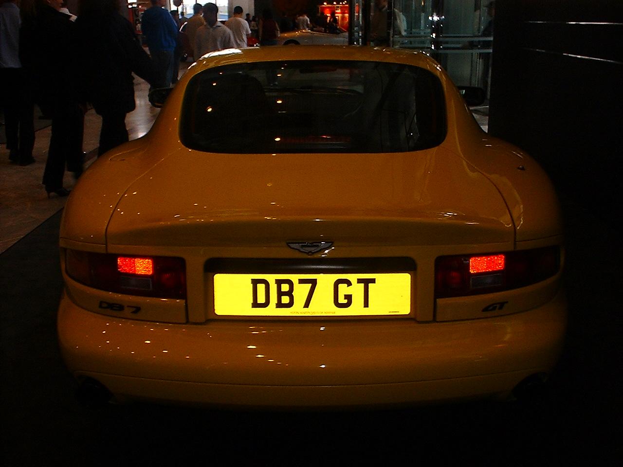 The Aston Martin DB7 GT.