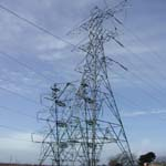 UK: Electricity pylon at Uskmouth [Picture by Dave Cotton]