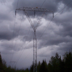 Canada: Guyed aluminium 230kV tower, South-East BC [Picture by Ian Kozicky]